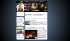 Faith of Biblical Characters Assignment