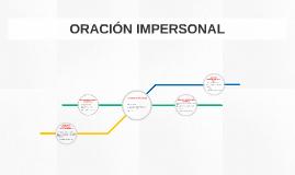 ORACIÓN IMPERSONAL