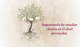 Copy of Importancia de enseñar ciencia en el nivel preescolar.