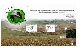 Resume: Increasing efficiency of N applied by synchronizing N supply