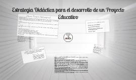 ESTRATEGIA DIDACTICA PARA DESARROLLO DE PROYECTO EDUCATIVO