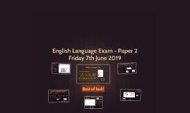 English Language Exam - Paper 2