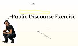 G1:  Public Discourse Exercise
