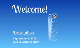 Orientation - September 9