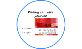 Writing can save your life