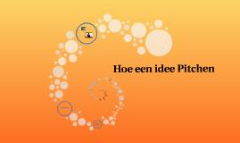 Hoe een idee Pitchen