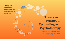 Copy of Chapter 3: Ethical Issues in Counseling Practice