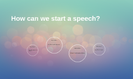 How can we start a speech?