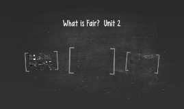 What is Fair?  Unit 2