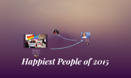 Happiest People of 2015