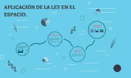 APLICACIÓN DE LA LEY EN EL ESPACIO.
