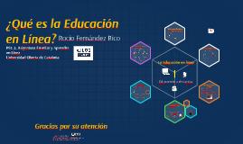 ¿Qué es la Educación en Línea?