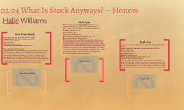 Copy of 02.04 What Is Stock Anyways? -- Honors