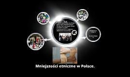 Mniejszości etnieczne w Polsce.