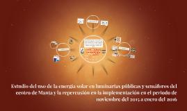 Estudio del uso de la energía solar en luminarias públicas y