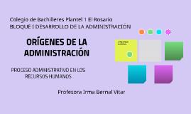 ORIGENES DE LA ADMINISTRACIÓN