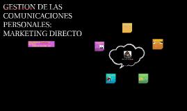 GESTION DE LAS COMUNICACIONES PERSONALES_