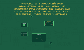SISTEMA DE EVACUACIÓN PARA PERSONAS CON DISCAPACIAD VISUAL P