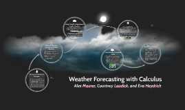 Copy of Weather Forecasting with Calculus