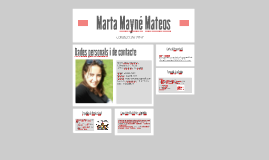 Currículum Vitae i Carta de Presentació-Marta Mayné Mateos