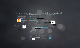 Monolingual instructional strategies
