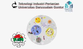 Profil Teknologi Industri Pertanian