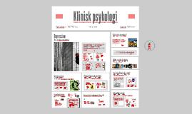 Klinisk psykologi