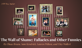 The Wall of Shame: Fallacies and Other Funnies