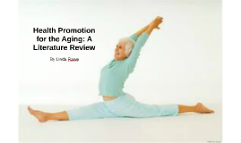Health Promotion for the Aging