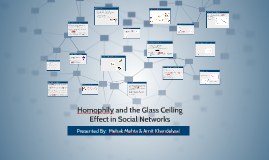 Homophily and the Glass Ceiling  Effect in Social Networks