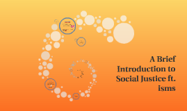 A Brief Introduction to Social Justice ft. isms
