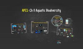 Buford APES Ch 8: Aquatic Biodiversity