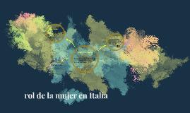 rol de la mujer en italia