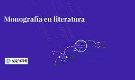 Monografía en literatura