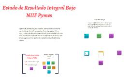 Estado de Resultado Integral Bajo NIIF Pymes