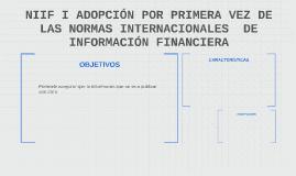 NIIF I ADOPCIÓN POR PRIMERA VEZ DE LAS NORMAS INTERNACIONALE