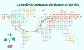 2nde - G1 - Du développement au DD