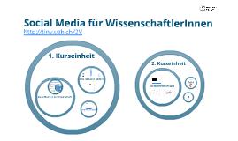 Workshop: Social Media für WissenschaftlerInnen