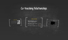 Co-teaching Relationships
