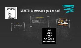 Homework debates is it good or bad
