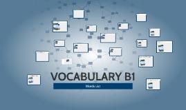 VOCABULARY B1