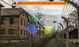 Week 1 Lesson 3: Holocaust research task