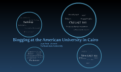 Blogging at the American University in Cairo