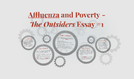 Affluenza and Poverty -