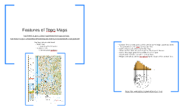 Features on Topographical Maps