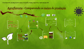 Copy of Agrofloresta - Monocultura X Agrofloresta