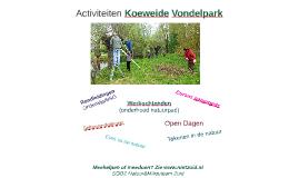 Activiteiten Koeweide Vondelpark