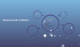 human growth vocabulary