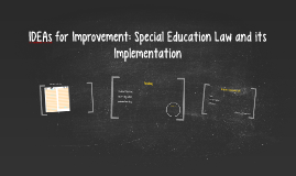 IDEAs for Improvement: Special Education .................