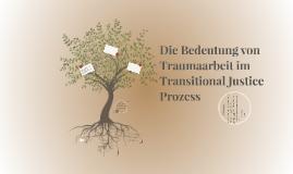 Die Bedeutung von Traumaarbeit im Transitional Justice Proze